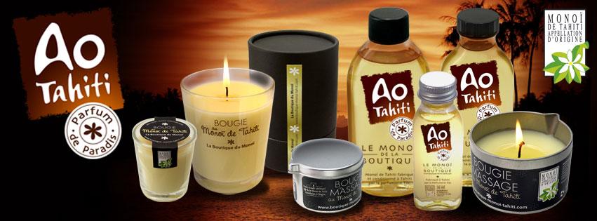 AO TAHITI, MONOI ET BOUGIES PARFUM DE PARADIS