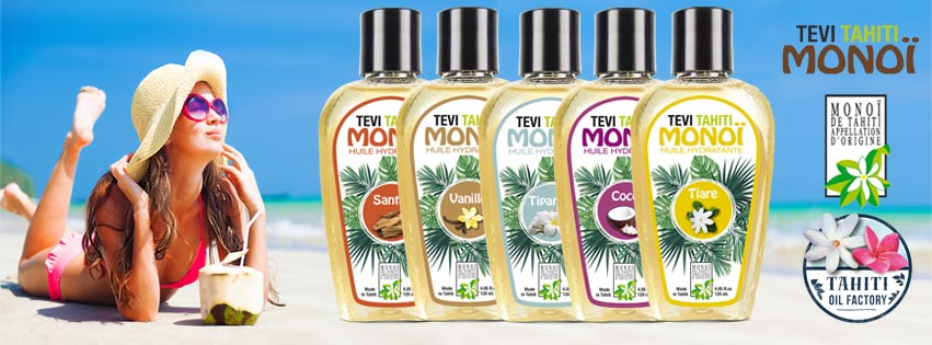 PUR MONOI TEVI 100% FABRIQUÉ À TAHITI