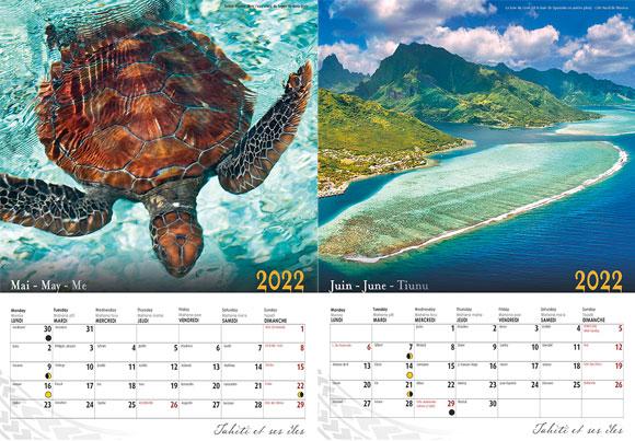Intérieur Calendrier 2022 Classique ©Pacific Image