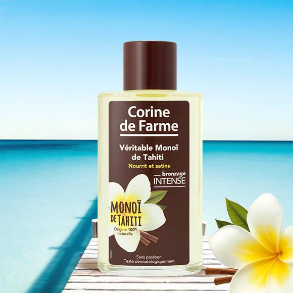 Pur Monoï de Tahiti 99% Corine de Farme.