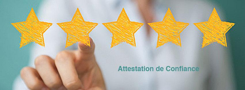 AVIS CLIENTS ATTESTATION DE CONFIANCE