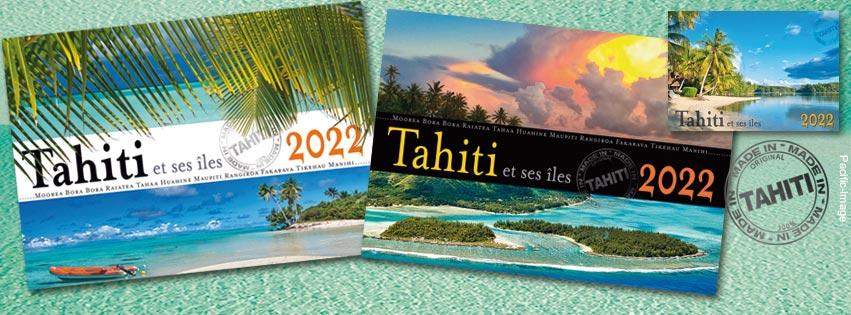 Découvrez les Nouveaux Calendriers 2022 de @Pacific-Image, entièrement élaborés et fabriqués à Tahiti même. Et bon voyage...