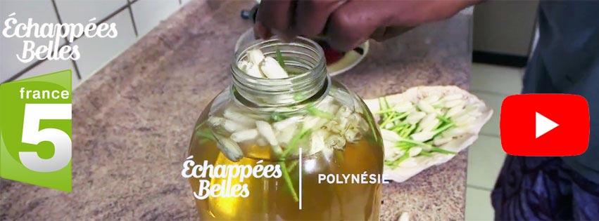 MONOI DE TAHITI DANS ECHAPPÉES BELLES