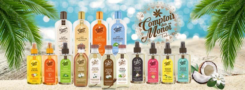 L'intégralité de la gamme Sublime Comptoir des Monoï est proposée sur La Boutique du Monoï.