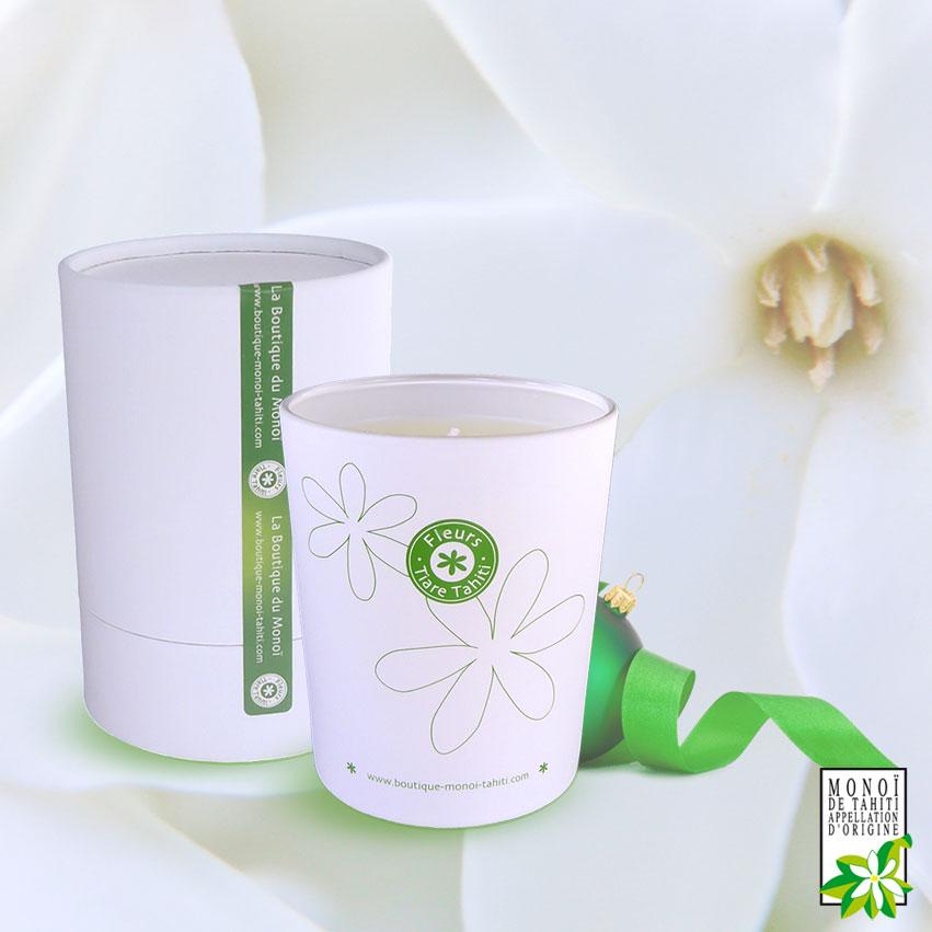 Dernière nouveauté de l'année 2019 : la Bougie au Monoï parfumée aux Fleurs de Tiare Tahiti.