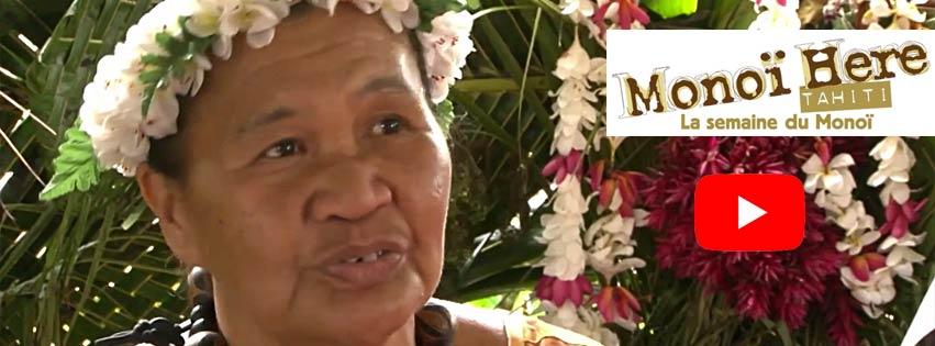 Julie de Fatu Hiva aux Marquises fredonne la chanson que sa grand-mère lui chantait, quand, petite,  elle lui massait le dos ou soignait ses cheveux avec du Mono'i fait maison...