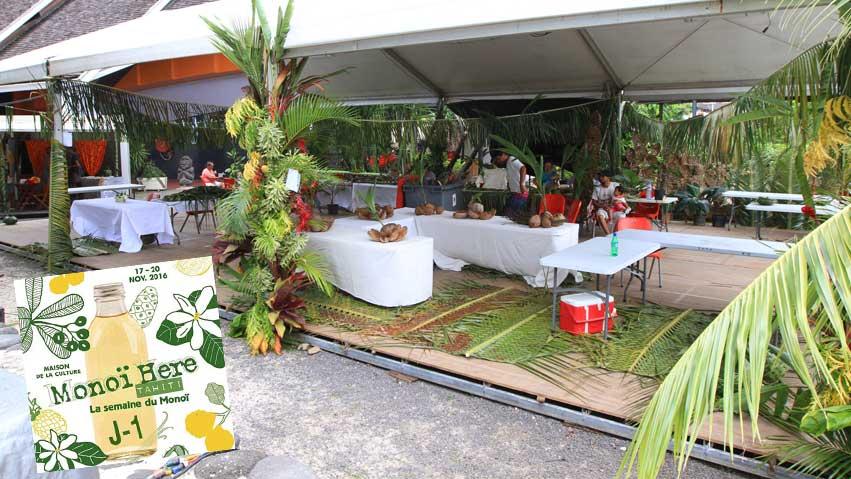 Le chapiteau principal accueillera l'ensemble des artisans traditionnels venus des 5 Archipels de Polynésie © La Boutique du Monoi