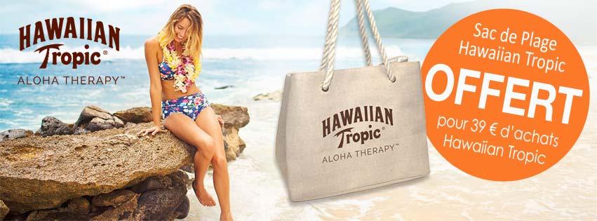 Dès que votre commande Hawaiian Tropic atteint 39 € d'achats, ce sac de plage en toile de jute Aloha Therapy s'ajoutent automatiquement à votre panier. C'est cadeau ! (Offre valable dans la limite des stocks de cadeaux disponibles).