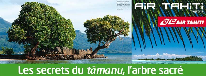 LE TAMANU DANS AIR TAHITI MAGAZINE