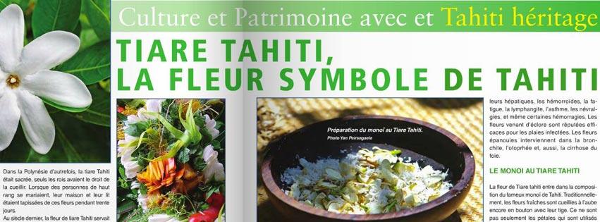 DECOUVRIR LA FLEUR DE TIARE TAHITI