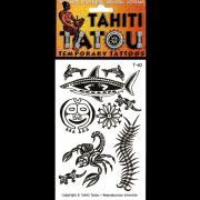 CADEAU TATTOO TEMPORAIRE T40 ANIMAUX TAHITI