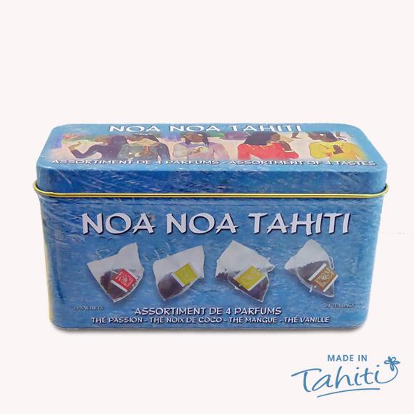 24 SACHETS THE NOA NOA TAHITI 4 PARFUMS BOITE MÉTAL