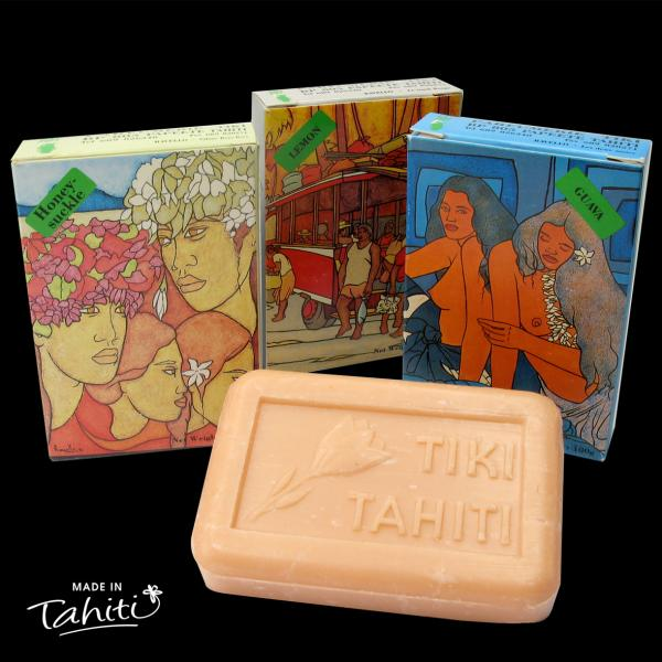 Ces 3 savons Ravello contiennent 30% de Monoï de Tahiti Appellation d'Origine. 3 parfums inédits : Goyage, Chèvre-feuille et Citron !!!