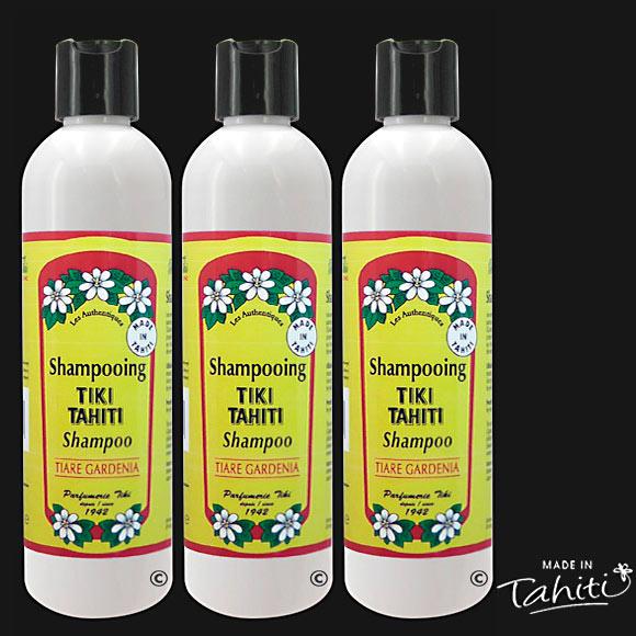 Ce Shampooing au Monoï Tiki Tahiti parfum Tiare Tahiti est fabriqué à Tahiti-Faaa par la Parfumerie Tiki depuis 1942.