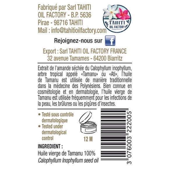 HUILE VIERGE DE TAMANU 30ML SPRAY TEVI RAIATEA