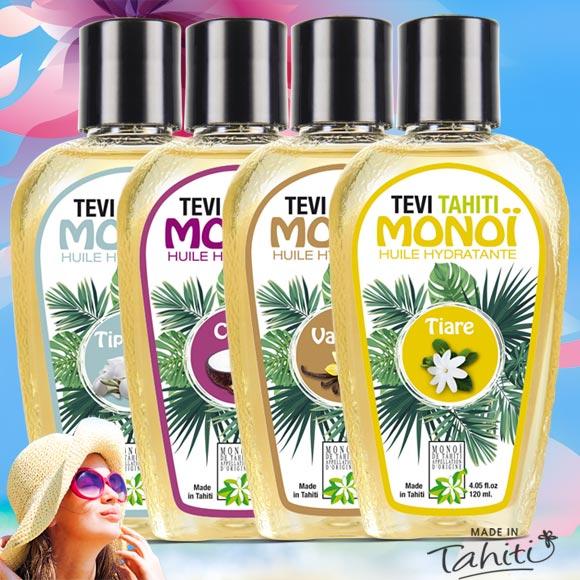 4 MONOI TEVI TAHITI 120ML 4 PARFUMS (DONT 1 GRATUIT !)