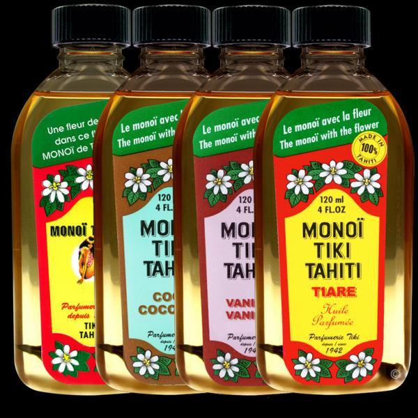 Ces Monoï Tiki Tahiti 120 ml sont fabriqués à Tahiti-Faaa par la Parfumerie Tiki depuis 1942. Cette offre vous permet de bénéficier d'un Monoï Tiki Tahiti 120ml gratuit !
