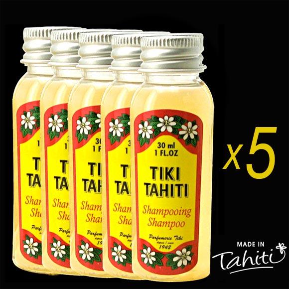 5 RIKIKI SHAMPOOING MONOI TIKI TAHITI 30mL PARFUM TIARE