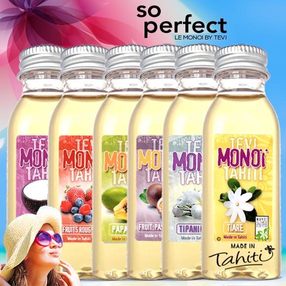La Boutique du Monoï a confectionné pour vous ce lot de 6 Monoï de Tahiti du Laboratoire Tevi d'une contenance de 30 mL.