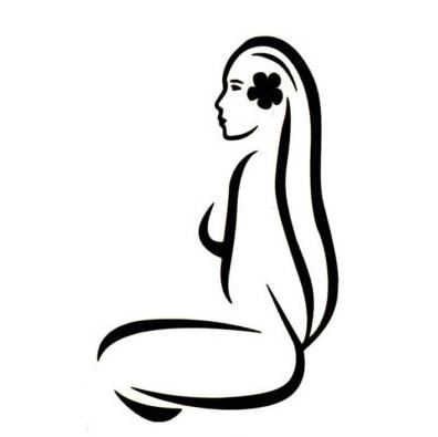 La Vahine Hinano stylisée est aussi l'emblème de son créateur et producteur La Brasserie de Tahiti.