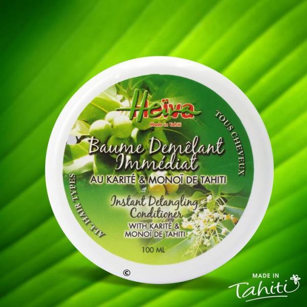 Ce baume démêlant très connu à Tahiti, se présente désormais en pot de 100 ml. Il facilite le démêlage des cheveux et les nourrit en profondeur.