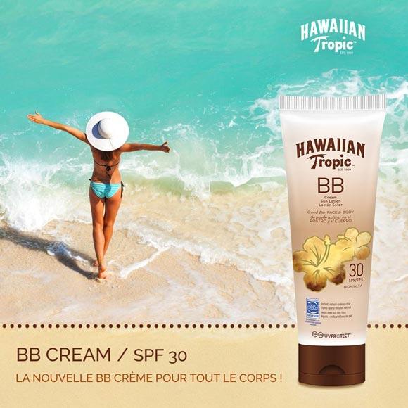 BB CREME CORPS ET VISAGE 150ML HAWAIIAN TROPIC SPF 30