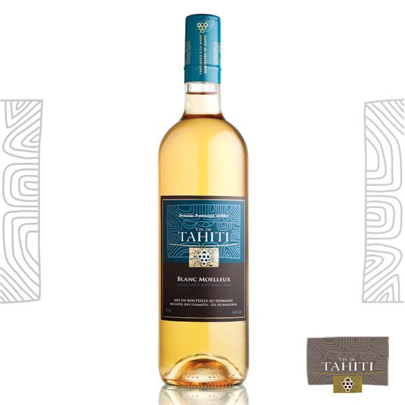 Vin Blanc Moelleux. Vin de Tahiti du Domaine de Dominique Auroy.