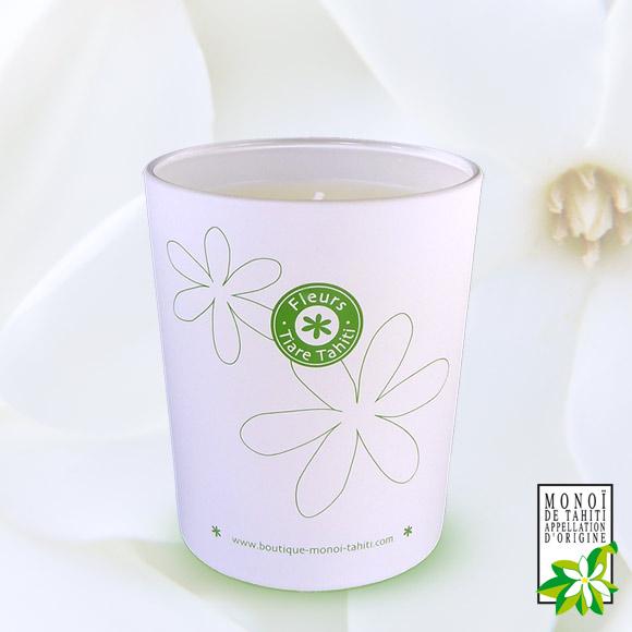 Bougie Parfumée aux Fleurs de Tiare Tahiti