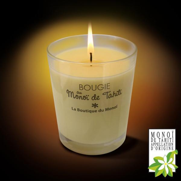 Cette Bougie contient du véritable Monoï de Tahiti Appellation d'Origine. Son parfum se diffuse une fois allumée, durant 40 à 45 heures. Bon voyage avec AO Tahiti, le Monoï de La Boutique