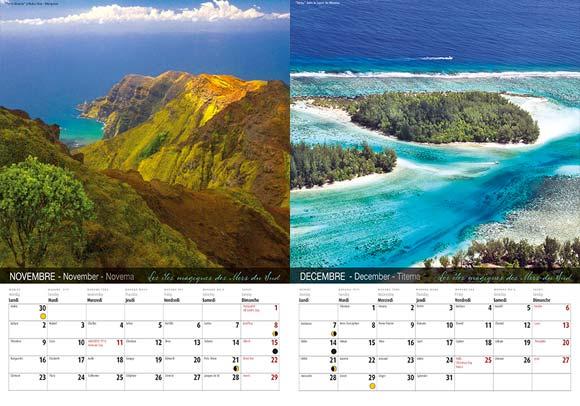 INTERIEUR CALENDRIER TAHITI ET SES ÎLES 2020 LE CLASSIQUE