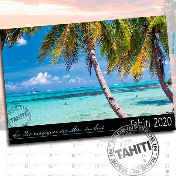 RECTO CALENDRIER TAHITI ET SES ÎLES 2020 LE CLASSIQUE A4