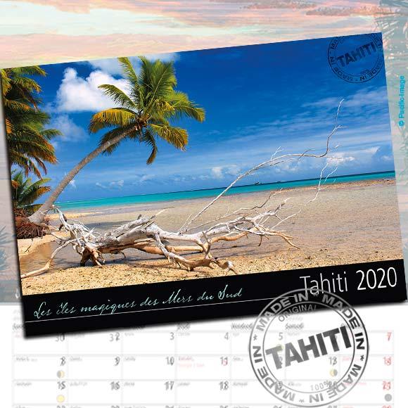 COUVERTURE CALENDRIER TAHITI ET SES ÎLES 2020 LE CLASSIQUE A5