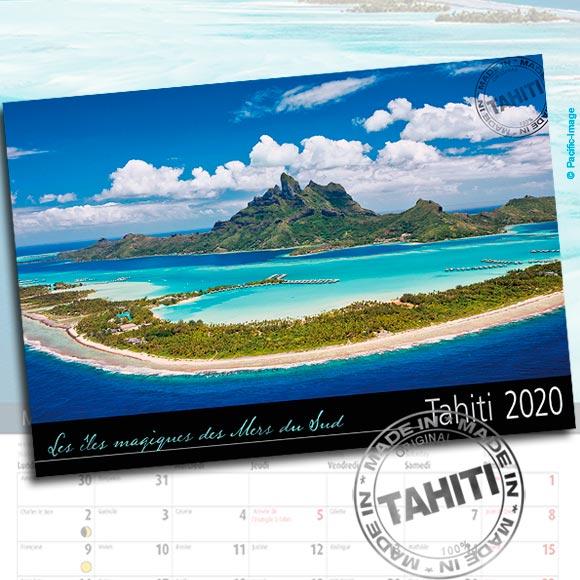 RECTO CALENDRIER TAHITI ET SES ÎLES 2020 VUES DU CIEL