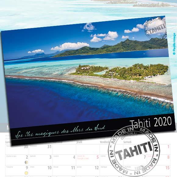 CALENDRIER TAHITI ET SES ÎLES 2020 VUES DU CIEL A5