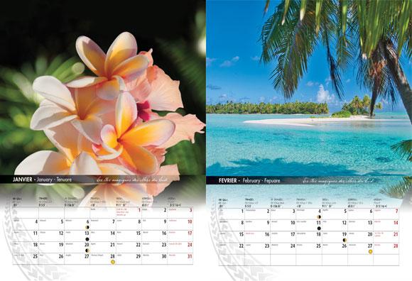 INTERIEUR CALENDRIER TAHITI ET SES ÎLES 2021 PAYSAGES A4