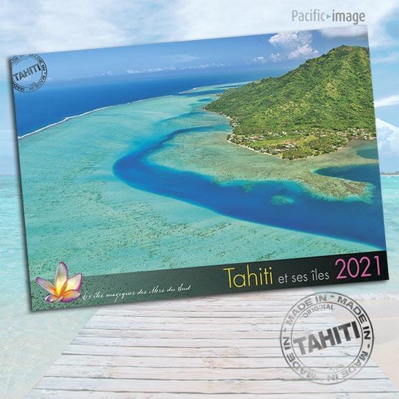 COUVERTURE CALENDRIER TAHITI ET SES ÎLES 2021 VUES DU