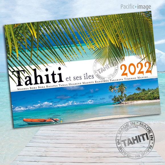 RECTO CALENDRIER TAHITI ET SES ÎLES 2022 LA CLASSIQUE A4