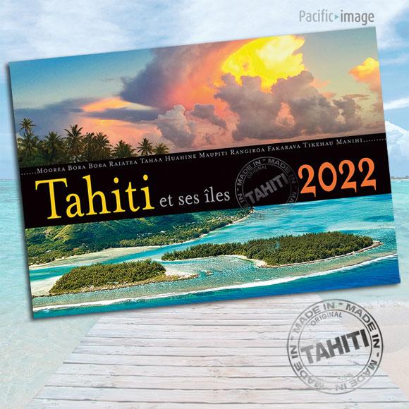 COUVERTURE CALENDRIER TAHITI ET SES ÎLES 2022 LE CLASSIQUE A4