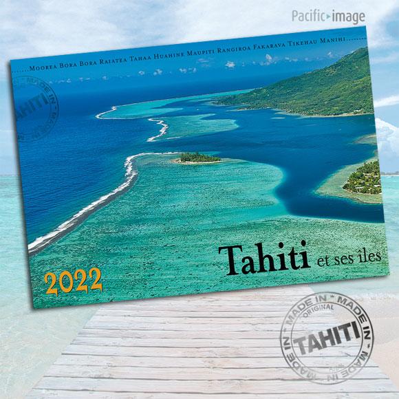 VERSO CALENDRIER TAHITI ET SES ÎLES 2022 LE CLASSIQUE A4