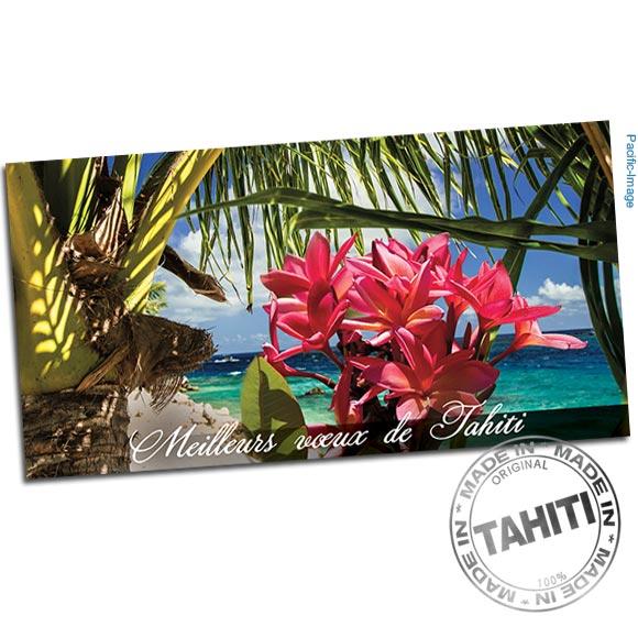 Carte entièrement réalisé à Tahiti par Pacific-Image.