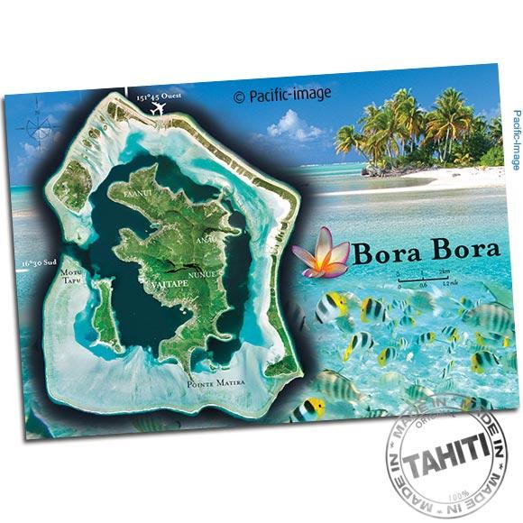 Carte postale entièrement réalisé à Tahiti par Pacific-Image.