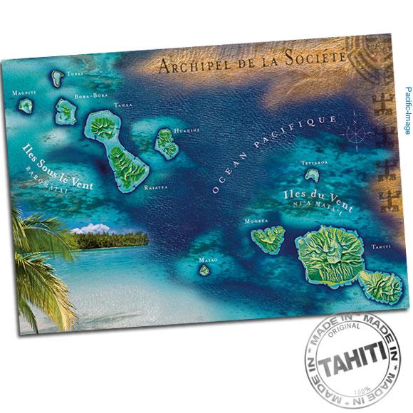 Carte postale entièrement réalisée à Tahiti par Pacific-Image.