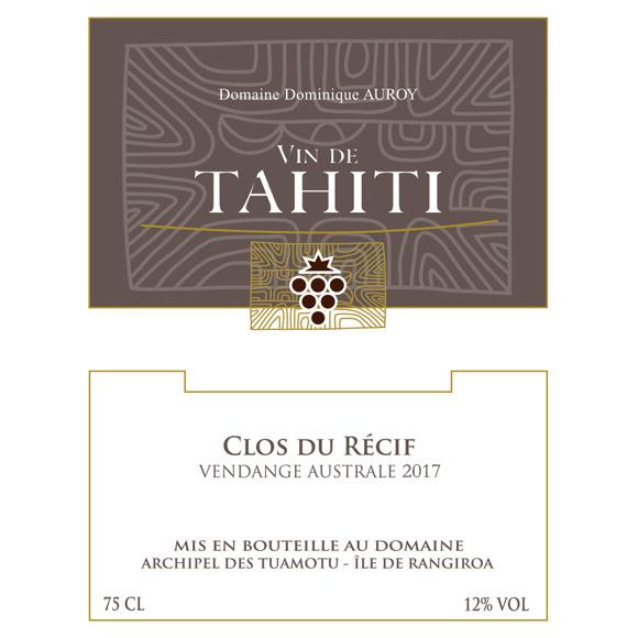Vin Blanc Clos du Récif. Vin de Tahiti du Domaine de Dominique Auroy.