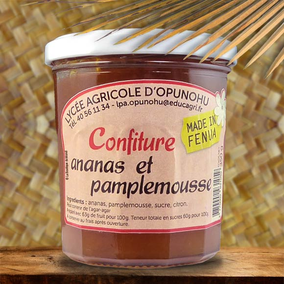 CONFITURE ARTISANALE MOOREA 350G ANANAS PAMPLEMOUSSE
