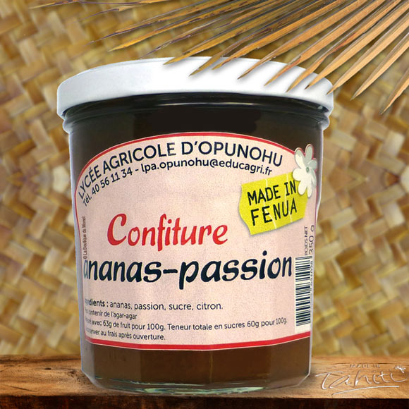 CONFITURE ARTISANALE MOOREA 350G ANANAS PASSION