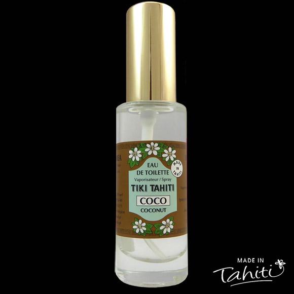 Un grand classique des parfums polynésiens ! Cette Eau de Toilette Tiki Tahiti 30 ml au parfum Noix de Coco complète parfaitement le Monoï Coco de la marque Tiki