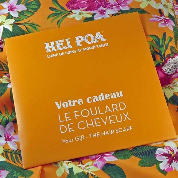 FOULARD DE TETE POUR CHEVEUX OFFERT POUR 30€ DE SOINS HEI POA*