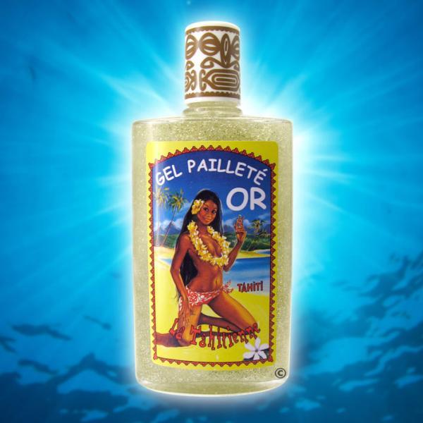 Paillettes très scintillantes ambiance disco 70's symbolisé par cette Vahiné Tahiti sur ce flacon Vintage. Une rétro inoubliable pour celles et ceux qui ne cherche pas l'innovation à tous prix...