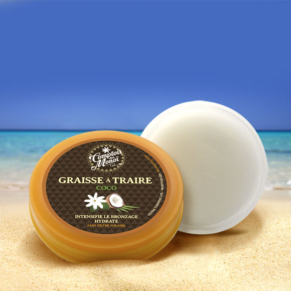 Ce baume tout blanc contenant du Monoï de Tahiti Appellation d'Origine ne devrait pas laisser votre peau de cette même couleur ! Bronzage intense assuré, parfum Coco en plus !