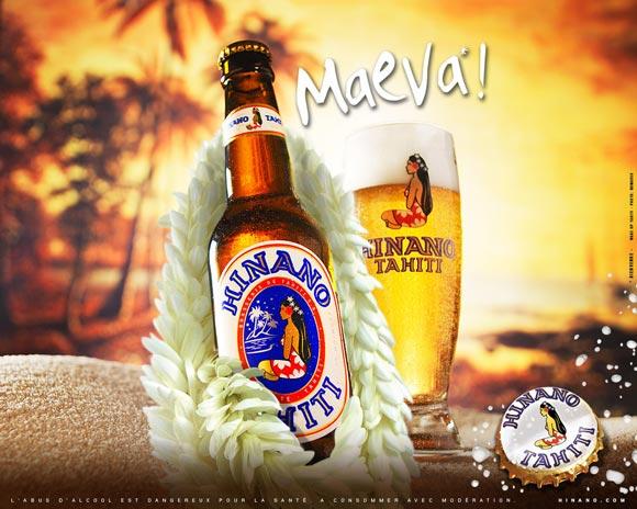 Hinano, la Bière de Tahiti. Retrouvez tout le goût de cette bière polynésienne, entièrement fabriquée et conditionnée à Tahiti par La Brasserie de Tahiti.
